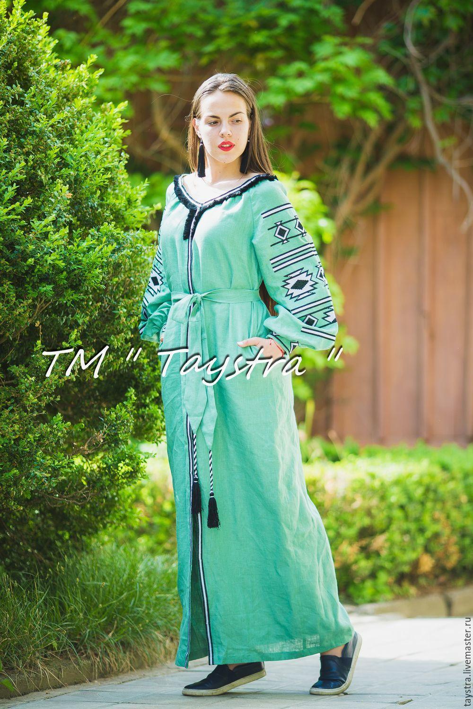 Платья вышиванки бохо