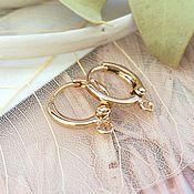 Материалы для творчества handmade. Livemaster - original item Earrings rings gold plated South Korea (art. 1679). Handmade.
