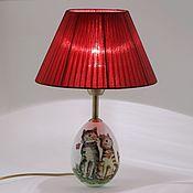 Для дома и интерьера ручной работы. Ярмарка Мастеров - ручная работа Настольная лампа Влюбленные котики. Handmade.