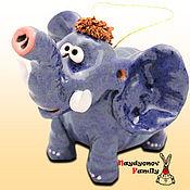 Сувениры и подарки handmade. Livemaster - original item Elephant ceramic bell. Elephant bell.. Handmade.