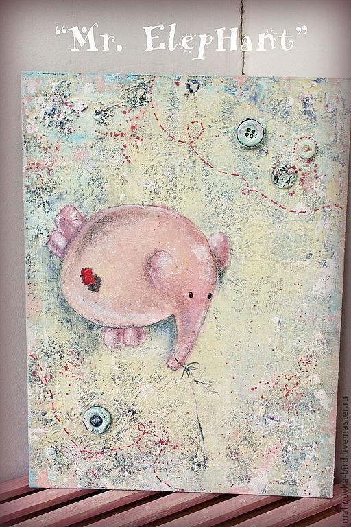Прелестный слон-воздушный шарик украсит детскую, научит ребенка мечтать)
