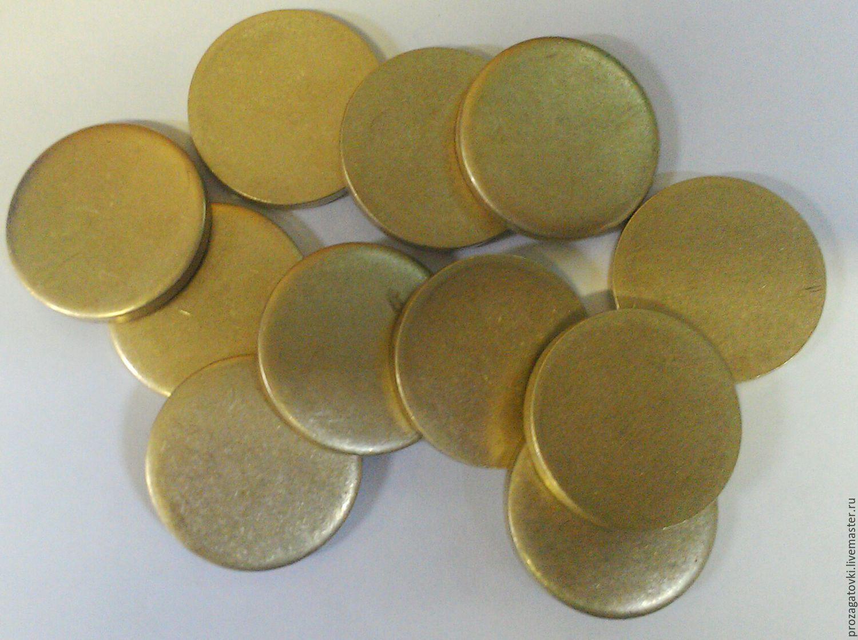 prozagotovki OMD Lab Заготовка латунная для монетного аттракциона. Чеканка монет. Заготовки для монет. Латунь Л63 мягкая, диаметр 25 мм, толщина 2,5 мм.