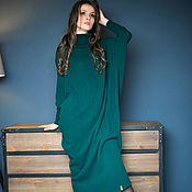 Платья ручной работы. Ярмарка Мастеров - ручная работа Вязаное платье из мериноса. Handmade.