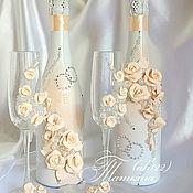 Свадебный салон ручной работы. Ярмарка Мастеров - ручная работа Набор аксессуаров в персиковом цвете. Handmade.