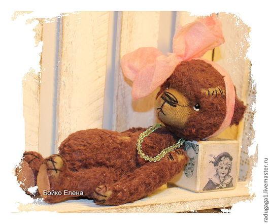 Мишки Тедди ручной работы. Ярмарка Мастеров - ручная работа. Купить Ретро девочка...)). Handmade. Коричневый, единственный экземпляр