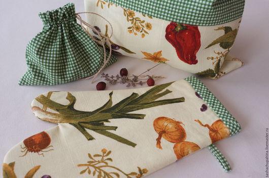 """Кухня ручной работы. Ярмарка Мастеров - ручная работа. Купить Кухонный комплект """"Провинция"""". Handmade. Комбинированный, мешок для хлеба"""