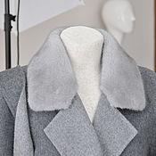 Одежда ручной работы. Ярмарка Мастеров - ручная работа Кашемировое пальто с норковым воротничком. Handmade.