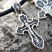 Украшения handmade. Livemaster - original item The Cross Of Jesus (St. Sergius Of Radonezh). Silver 925 art. One million eleven thousand three hund. Handmade.