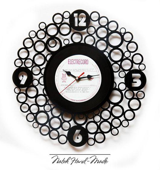 """Часы для дома ручной работы. Ярмарка Мастеров - ручная работа. Купить Часы """"Круги"""". Handmade. Часы интерьерные, часы настенные"""