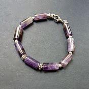 Украшения handmade. Livemaster - original item Amulet bracelet made of natural amethyst (unisex). Handmade.