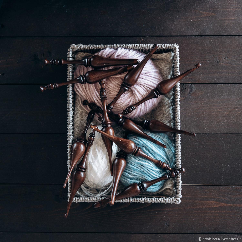 Set of wooden hooks for knitting 12 PCs. (4-12mm.) KN26, Crochet Hooks, Novokuznetsk,  Фото №1