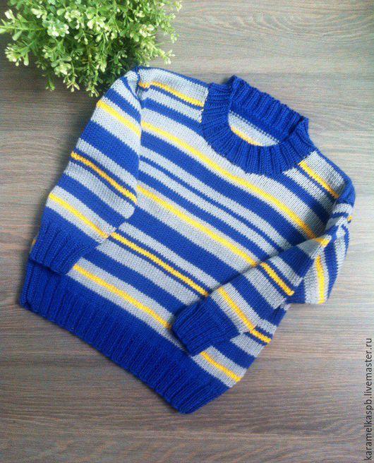 Одежда для мальчиков, ручной работы. Ярмарка Мастеров - ручная работа. Купить Джемпер для мальчика. Handmade. Комбинированный, кофта для мальчика, хлопок