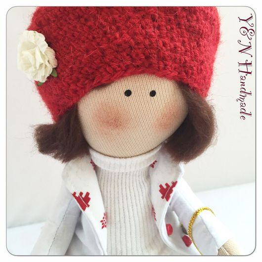 Куклы тыквоголовки ручной работы. Ярмарка Мастеров - ручная работа. Купить Куколка Зимняя Снежка❄️. Handmade. Кукла ручной работы