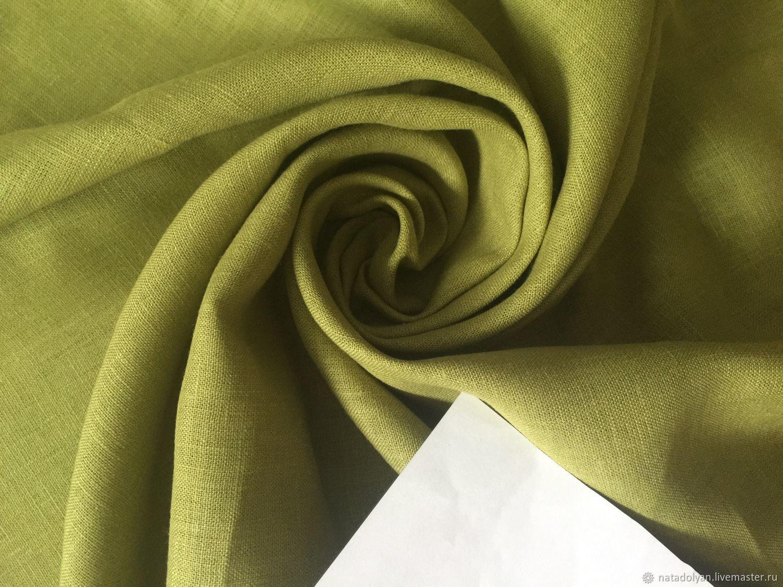100% linen suit ' Green Apple', Fabric, Ivanovo,  Фото №1