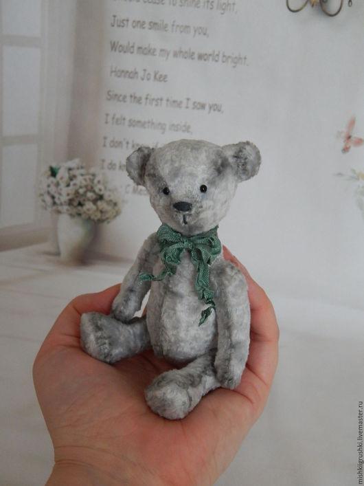 Мишки Тедди ручной работы. Ярмарка Мастеров - ручная работа. Купить Мишка-тедди малыш. Handmade. Серый, плюш винтажный