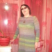 Одежда ручной работы. Ярмарка Мастеров - ручная работа Теплое платье Искусство. Handmade.