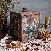 """Банки ручной работы. Ярмарка Мастеров - ручная работа Короб """"Вечернее чаепитие"""". Handmade."""