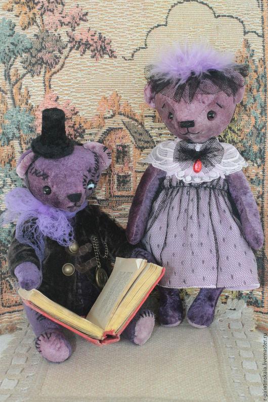 Мишка Тедди - ручная работа. Мишка в подарок.Подарок на Хэллоуин. Ярмарка Мастеров - ручная работа. Мишка Тедди Франкенштейн и Невеста Франкенштейна. Handmade. Мишка Франкенштейн.