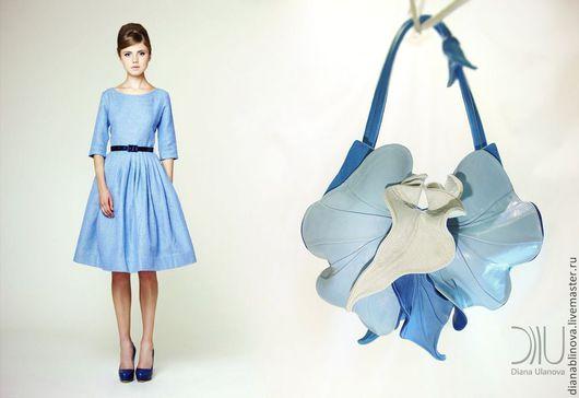 Женские сумки ручной работы. Ярмарка Мастеров - ручная работа. Купить Орхидея NEW голубая. Handmade. Голубой, подарок женщине