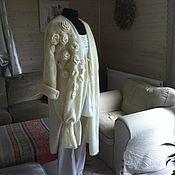 """Одежда ручной работы. Ярмарка Мастеров - ручная работа Пальто """"Белые цветы"""". Handmade."""