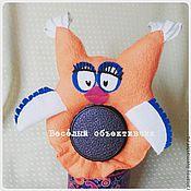 Куклы и игрушки ручной работы. Ярмарка Мастеров - ручная работа Игрушка на объектив сова (рыжая). Handmade.