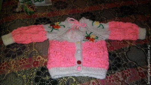 Костюмы ручной работы. Ярмарка Мастеров - ручная работа. Купить Костюм для девочки от 6 месяцев до 1года. Handmade. Розовый, теплый