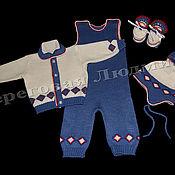 Работы для детей, ручной работы. Ярмарка Мастеров - ручная работа Комплект  для новорожденных Ромбик. Handmade.