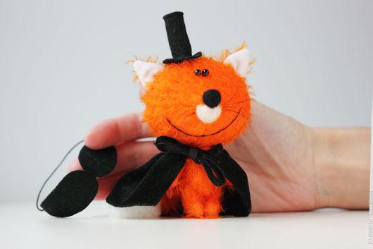 Мишки Тедди ручной работы. Ярмарка Мастеров - ручная работа. Купить Мистер Лис - Мистер Икс - миниатюрная игрушка - подарок!. Handmade.