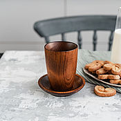 Посуда handmade. Livemaster - original item A couple of tea from the Siberian Cedar (Cup saucer) NC2. Handmade.