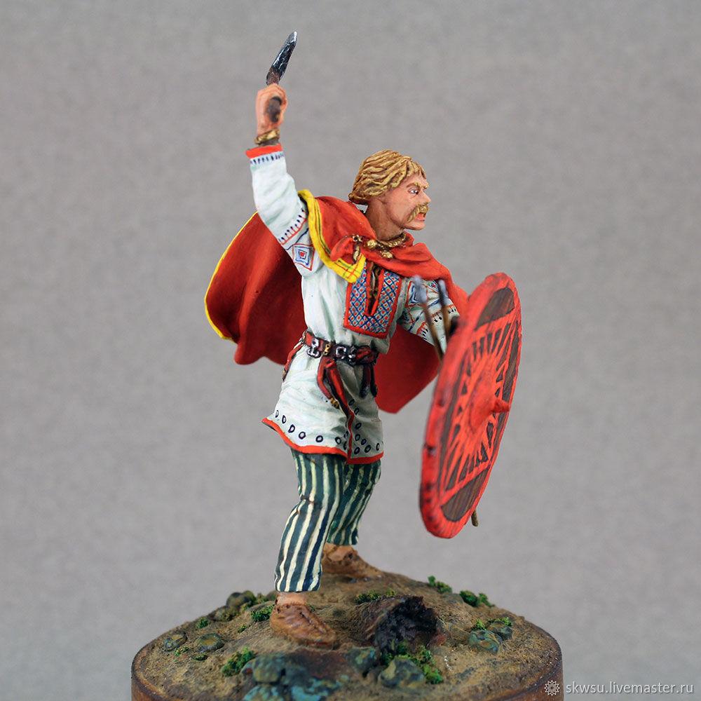 Slavic warrior. VI-Viiv. Tin soldiers. Collapsible, Model, Kursk,  Фото №1