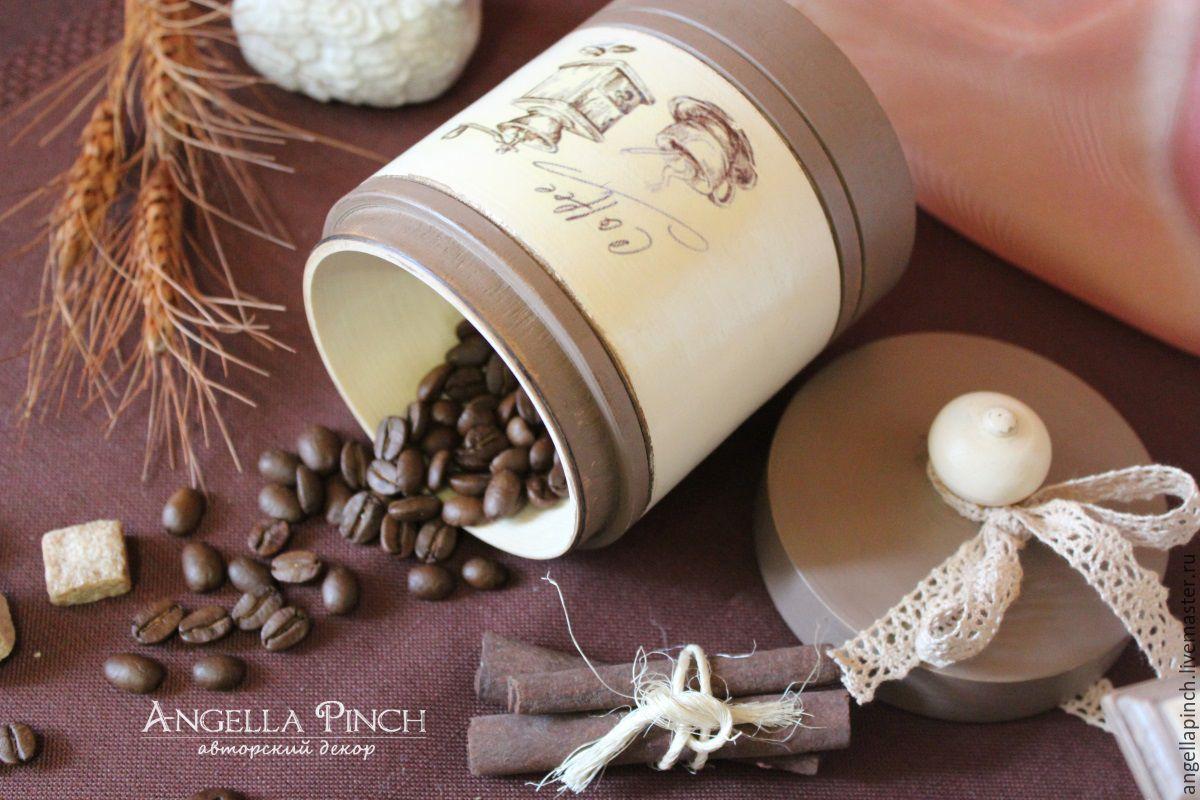 """Кухня ручной работы. Ярмарка Мастеров - ручная работа. Купить """"Какао с ванилью"""" - банка для сыпучих. Декупаж. Handmade. Кухня, какао"""