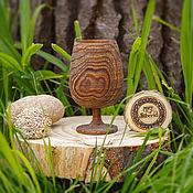 Посуда handmade. Livemaster - original item Wooden wine glass made of Siberian Elm wood G4. Handmade.