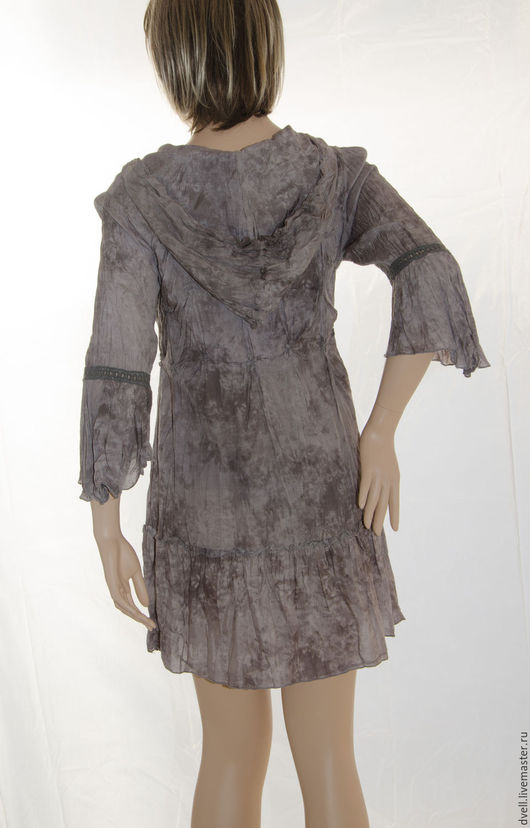 Большие размеры ручной работы. Ярмарка Мастеров - ручная работа. Купить Туника бохо Капюшон создайте свой неповторимый образ женственный и сек. Handmade.