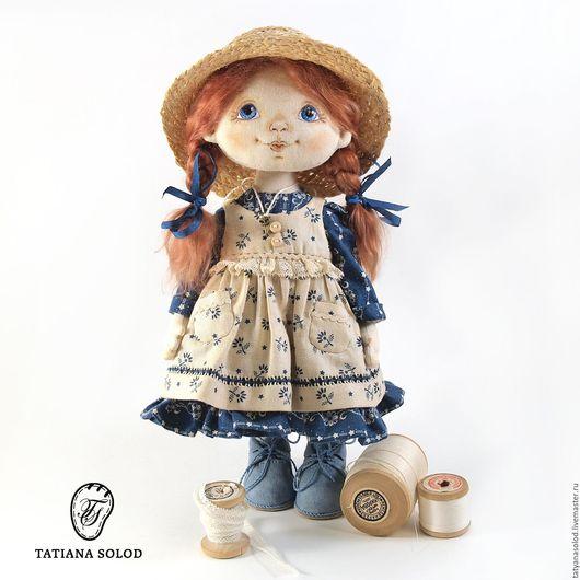 Лидочка. Кукла текстильная. Кукла ручной работы.