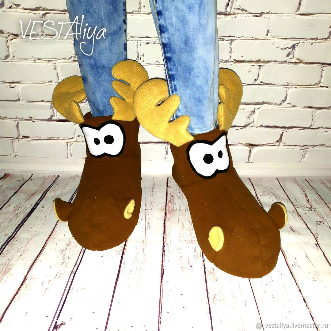 Moose Slippers, Slippers, Biisk,  Фото №1