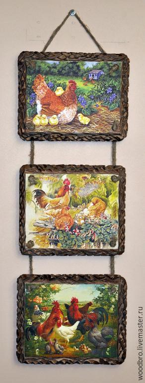 """Животные ручной работы. Ярмарка Мастеров - ручная работа. Купить Панно настенное  """"Прованс""""  триптих. Handmade. Панно, стиль прованс"""