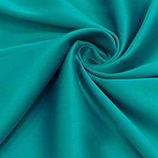 Ткани ручной работы. Ярмарка Мастеров - ручная работа сатин костюмный морская волна   со стрейчем. Handmade.