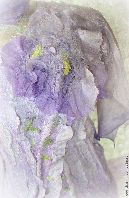"""Платья ручной работы. Ярмарка Мастеров - ручная работа. Купить Платье  валяное Нежный ирис"""". Handmade. Сиреневый, нежность, шерсть"""