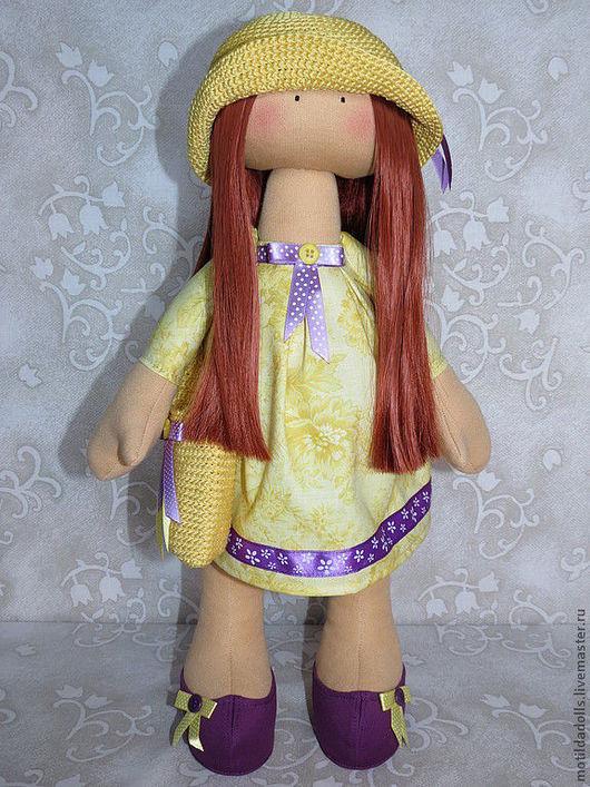 Человечки ручной работы. Ярмарка Мастеров - ручная работа. Купить ТЕКСТИЛЬНАЯ КУКЛА МИЛА. Handmade. Желтый, интерьерная кукла