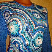 """Одежда ручной работы. Ярмарка Мастеров - ручная работа Джемпер """"голубые фантазии"""". Handmade."""