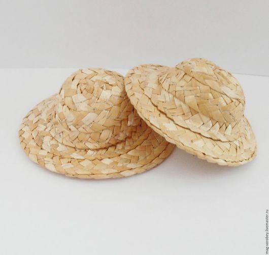 Куклы и игрушки ручной работы. Ярмарка Мастеров - ручная работа. Купить Соломенная шляпа. Handmade. Бежевый, шляпа, шляпка для куклы