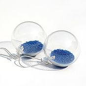 Украшения handmade. Livemaster - original item Blown earrings