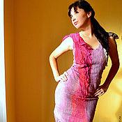 Одежда ручной работы. Ярмарка Мастеров - ручная работа платье в розовых тонах. Handmade.