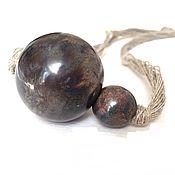 Украшения handmade. Livemaster - original item Boho beads the Planet. Ceramics hand made Poland linen natural. Handmade.