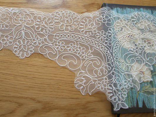Шитье ручной работы. Ярмарка Мастеров - ручная работа. Купить Кружево кордовое -  вышивка на сетке кордом  №30 (кп0711). Handmade.