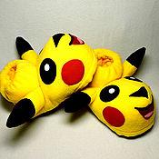 Обувь ручной работы handmade. Livemaster - original item Pikachu toy Slippers. Handmade.
