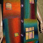 """Одежда ручной работы. Ярмарка Мастеров - ручная работа Сарафан """"РАДУЖНЫЙ ДОМ"""" - очень большой размер. Handmade."""