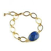 Украшения handmade. Livemaster - original item Lapis lazuli bracelet, lapis lazuli bracelet, dark blue bracelet. Handmade.