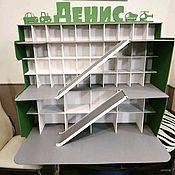 Кукольные домики ручной работы. Ярмарка Мастеров - ручная работа Парковка для игрушечных машин 60на70. Handmade.