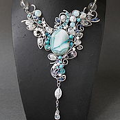 Украшения handmade. Livemaster - original item Necklace Ice fantasy. Handmade.